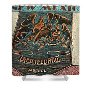 New Mexico Crescit Eundo Shower Curtain