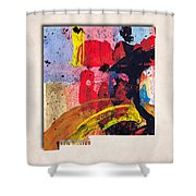 New Mexico Map Art - Painted Map Of New Mexico Shower Curtain