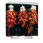 New Mexico Red Chili Peppers Shower Curtain