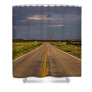 New Mexico Road 10 Shower Curtain