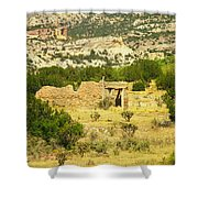 New Mexico Ruins Shower Curtain