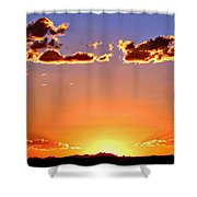 New Mexico Sunset Glow Shower Curtain