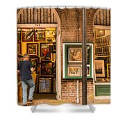 New Orleans Art Shop On Royal Shower Curtain