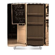 New Orleans - Bourbon Street Menu 3 Shower Curtain