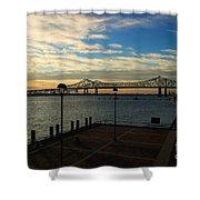 New Orleans Bridge Shower Curtain