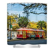 New Orleans - Canal St Streetcar 2 Shower Curtain