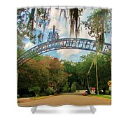 New Orleans City Park - Pizzati Gate Entrance Shower Curtain
