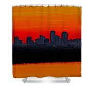 New Orleans City Sunset Shower Curtain