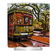 New Orleans Classique Line Art Shower Curtain