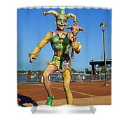 New Orleans Clown French Quarters Shower Curtain
