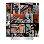 New Orleans Collage 2 Shower Curtain
