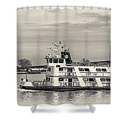 New Orleans Ferry Bw Shower Curtain