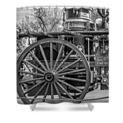 New Orleans Fire Department 1896 Bw Shower Curtain