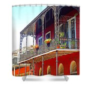 New Orleans French Quarter Architecture 2 Shower Curtain