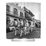 New Orleans Funeral Monochrome Shower Curtain