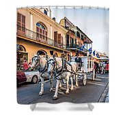 New Orleans Funeral Shower Curtain