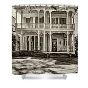 New Orleans Home - Paint Sepia Shower Curtain
