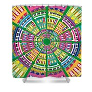 New Orleans House Roundel Shower Curtain