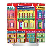New Orleans Houses Shower Curtain