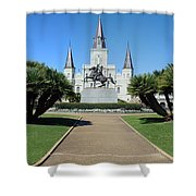 New Orleans - Jackson's Square Shower Curtain