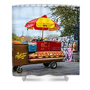 New Orleans - Lucky Dogs  Shower Curtain by Steve Harrington