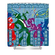 New Orleans Mardi Gras Balcony Shower Curtain