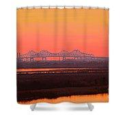 New Orleans Mississippi Bridge Shower Curtain
