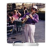 New Orleans Musician Shower Curtain