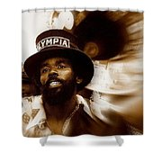 New Orleans Olympia Second Line Grand Marshall Shower Curtain