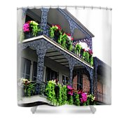 New Orleans Porches Shower Curtain