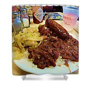 New Orleans Red Beans And Rice Shower Curtain