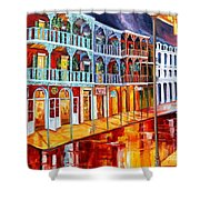 New Orleans Reflections In Red Shower Curtain
