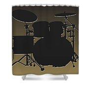 New Orleans Saints Drum Set Shower Curtain