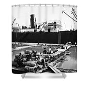 New Orleans Shipping, 1903 Shower Curtain