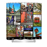 New Orleans Shower Curtain