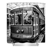 New Orleans Streetcar Black And White Picture Shower Curtain