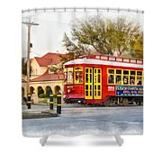 New Orleans Streetcar Paint Shower Curtain