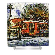 New Orleans Streetcar Paint Vg Shower Curtain