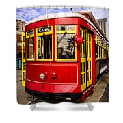 New Orleans Streetcar  Shower Curtain by Paul Velgos