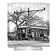 New Orleans Streetcar Silhouette Shower Curtain