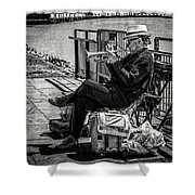 New Orleans Waterfront Jazz Shower Curtain
