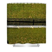 New Perspective Of The Picket Fence Shower Curtain