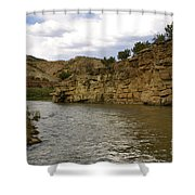 New Photographic Art Print For Sale Banks Of The Rio Grande New Mexico Shower Curtain