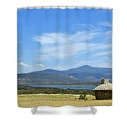 New Photographic Art Print For Sale Cabin At The Ghost Ranch New Mexico Shower Curtain