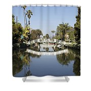 New Photographic Art Print For Sale Canals Of Venice California Shower Curtain