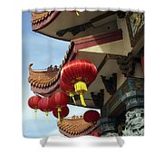 New Photographic Art Print For Sale Downtown Chinatown Shower Curtain
