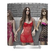 Sex Sells Mannequins In Lingerie In Downtown Los Angeles  Shower Curtain
