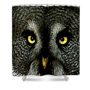 New Photographic Art Print For Sale   Great Grey Owl Shower Curtain