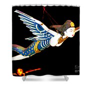 Iconic London Camden Puppets The Flying Princesses Shower Curtain