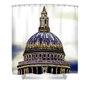 New Photographic Art Print For Sale   Iconic London St Paul's Cathedral Shower Curtain